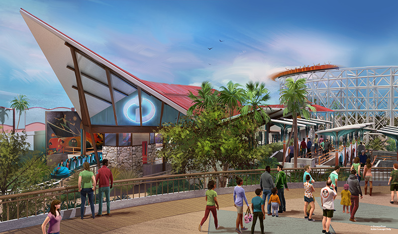 Pixar Pier Incredicoaster Dispatch