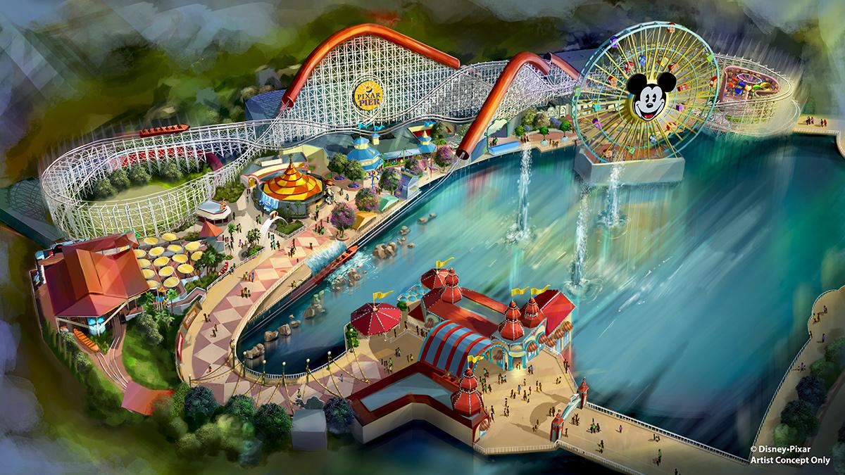 Pixar Pier Overview