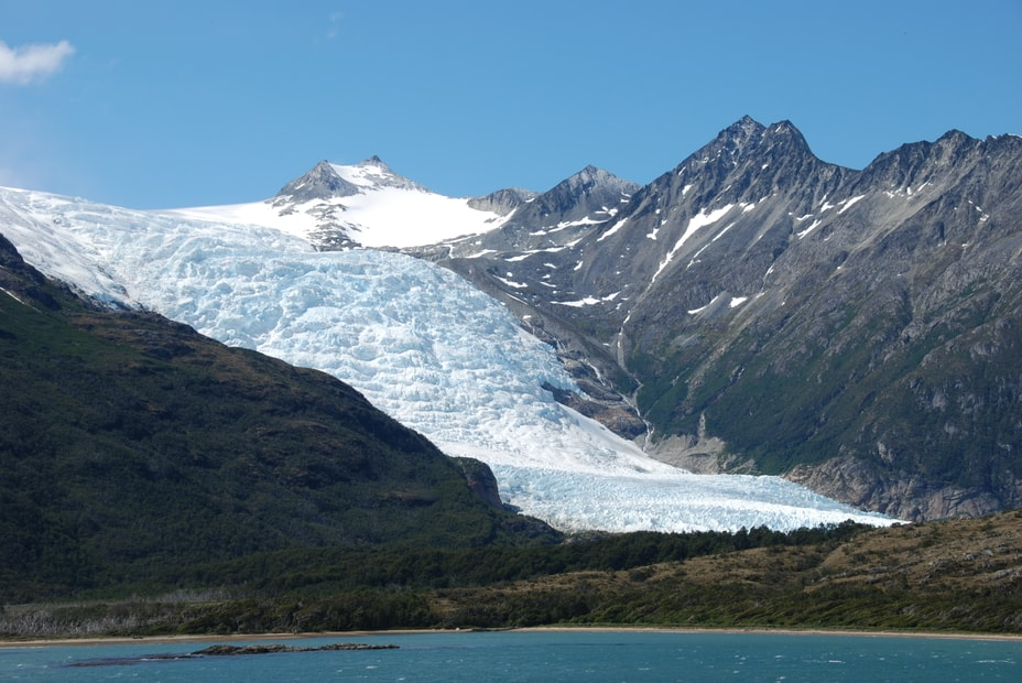 glacier in the mountains