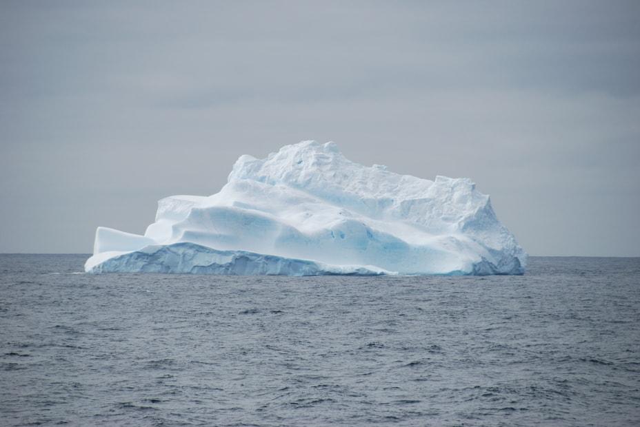a single huge iceberg