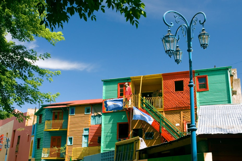 colourful homes in Caminito, Buenos Aires
