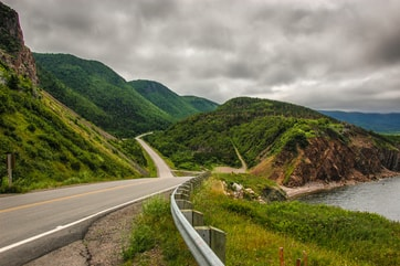 Cabot Trail on a cloudy day