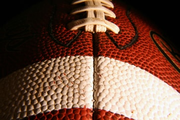 close-up of CFL football