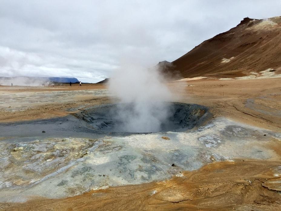 steaming mud pot