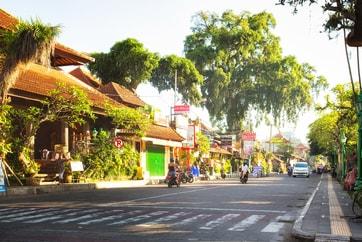 quiet street in Ubud, Bali