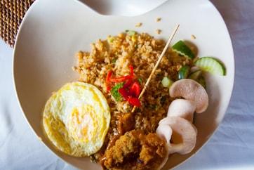 Balinese nasi goreng meal