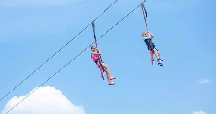 kids zipling in Las Vegas