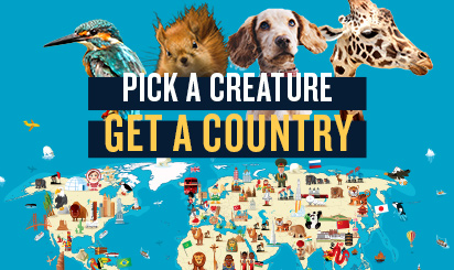 Pick A Creature, Get a Country