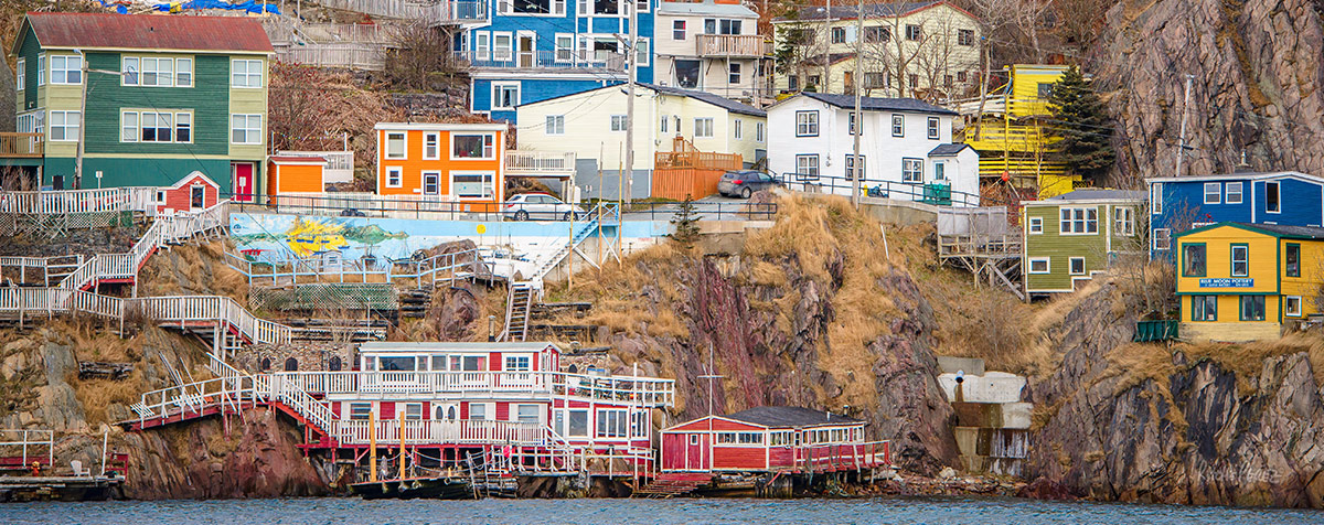 colored houses in Battery