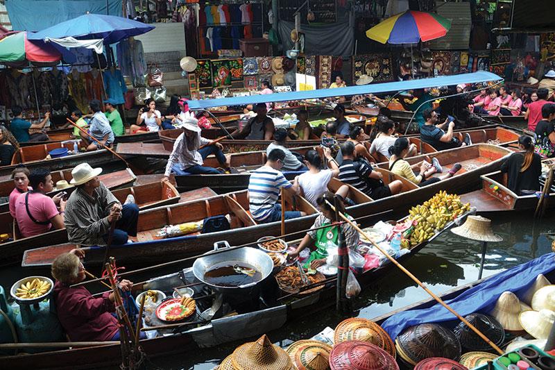 Floating Market near Bankok Thailand