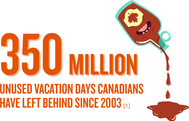 350 million unused vacation days in canada