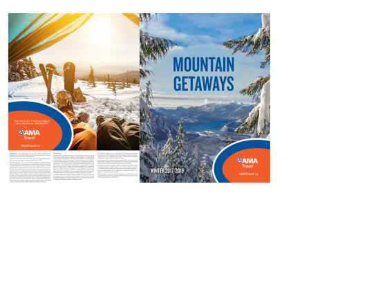 Mountain getaway summer brochure