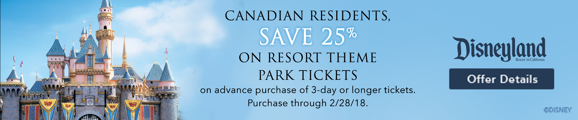 Canadian Residents Save 25% On Resort Theme Park Tickets