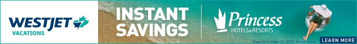 WestJet Vacation Instand Savings